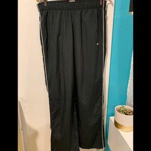 Nike black polyester track pants